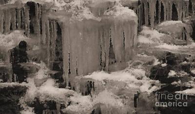 Beautiful Ice Art Print by R McLellan
