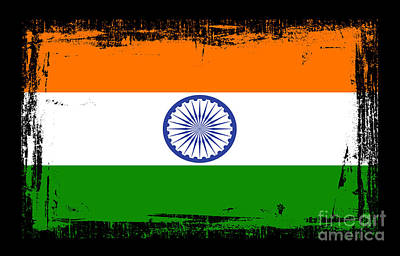 Beautiful India Flag Art Print