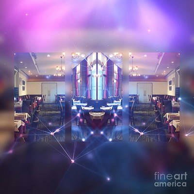 Digital Art - Beautiful Interiors Of A French Restaurant by Beverly Claire Kaiya