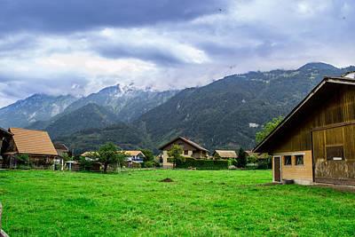 Swiss Mixed Media - Beautiful Interlaken  by Xe Ale