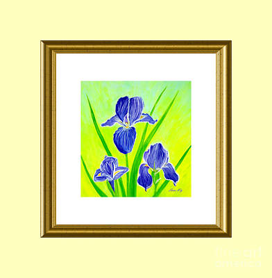 Painting - Beautiful Iris Flowers  by Oksana Semenchenko