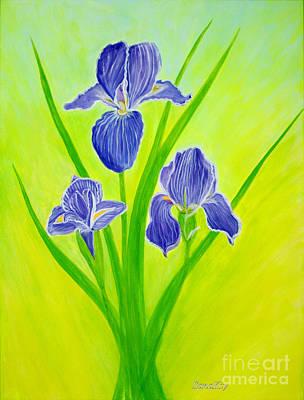 Gift Painting - Beautiful Iris Flowersinspirations Collection..  by Oksana Semenchenko