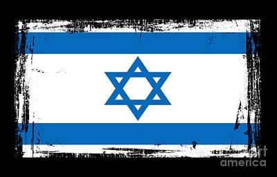 Jerusalem Mixed Media - Beautiful Israel Flag by Pamela Johnson