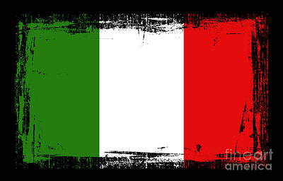 Digital Altered Mixed Media - Beautiful Italy Flag by Pamela Johnson