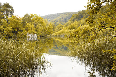 Abundance Digital Art - Beautiful Lake In Autumn by Modern Art Prints
