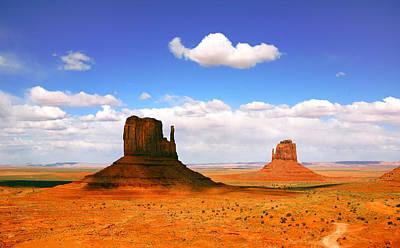 Beautiful Landscape Of  Monument Valley Arizona Art Print by Katrina Brown