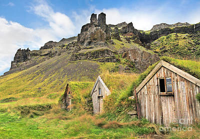 Photograph - Beautiful Landscape With Traditional Turf Houses In Iceland by JR Photography