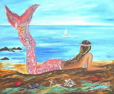 Painting - Beautiful Mermaid by Leslie Allen