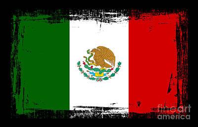 Central America Mixed Media - Beautiful Mexico Flag by Pamela Johnson