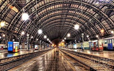 Mixed Media - Beautiful Milan Train Station by Marvin Blaine