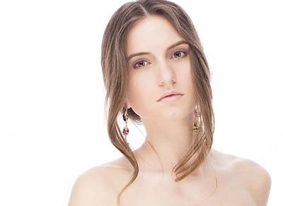 Beautiful Model With Earrings Art Print by Anastasia Yadovina