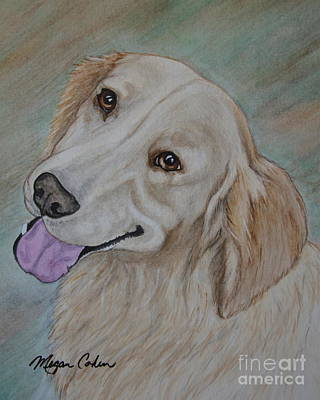 Watercolor Pet Portraits Painting - Beautiful Molly by Megan Cohen