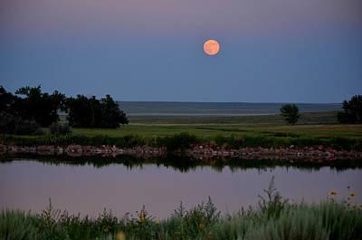 Photograph - Beautiful Moon Over Kinney Lake by Clarice  Lakota