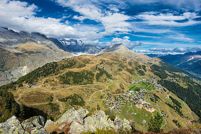 Photograph - Beautiful Mountain Landscape In The Swiss Alps Switzerland by Matthias Hauser