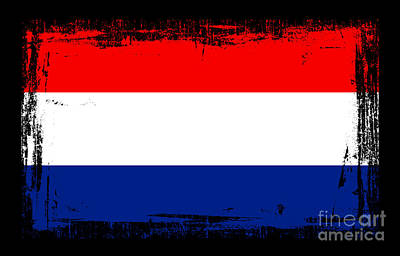Limburg Mixed Media - Beautiful Netherlands Flag by Pamela Johnson