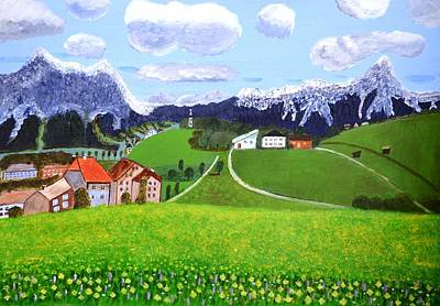 Art Print featuring the painting Beautiful Norway by Magdalena Frohnsdorff