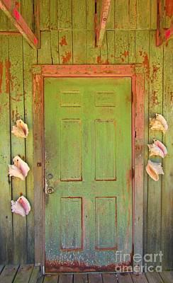 Beautiful Old Door With Seashells Art Print by John Malone