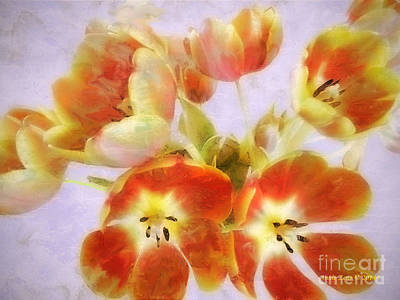 Painting - Beautiful Painted Tulips by Annie Zeno