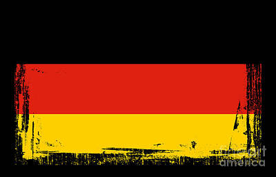 Berlin Mixed Media - Beautiful Germany Flag by Pamela Johnson