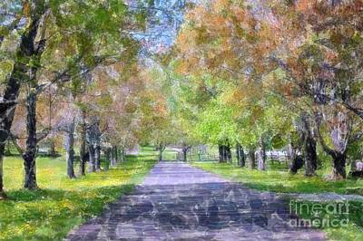 Beautiful Pathway Art Print by Kathleen Struckle