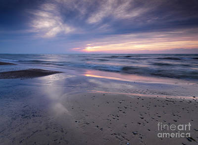 Pinery Photograph - Beautiful Peaceful Sunset On Lake Huron by Oleksiy Maksymenko
