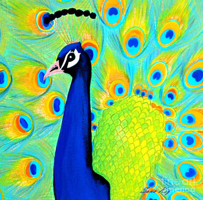 Beautiful Peacock Card Art Print