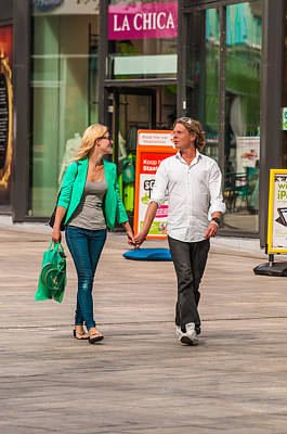 Almere Photograph - Beautiful People Coordinate Their Plastic Shopping Bags by Paul Donohoe