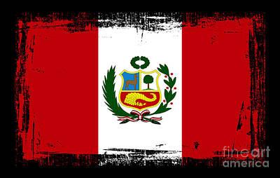 American Flag Mixed Media - Beautiful Peru Flag by Pamela Johnson