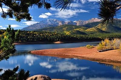 Beautiful Pikes Peak At Crystal  Art Print