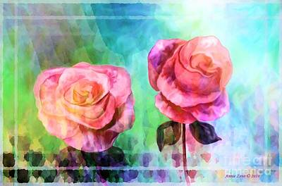Painting - Beautiful Pink Roses by Annie Zeno