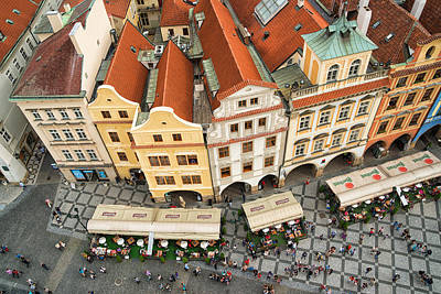 Beautiful Prague From Above - Lovely Old Houses Art Print by Matthias Hauser