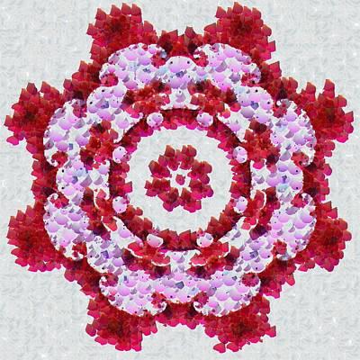 Digital Art - Beautiful Red Mandala by Matthias Hauser