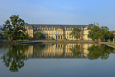 Photograph - Beautiful Reflection In The Water - New Palace Stuttgart by Matthias Hauser