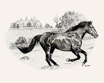 Beautiful Runner Art Print by Joseph Juvenal