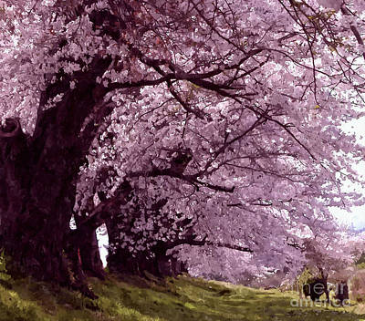 Perhaps Painting - Beautiful Sakura Tree by Lanjee Chee