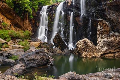 Beautiful Sathodi Falls In India Art Print