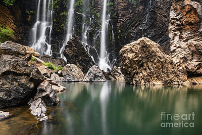 Beautiful Satoddi Falls In Western Ghats India Art Print