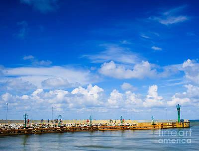 Beautiful Sea Sky Art Print by Boon Mee