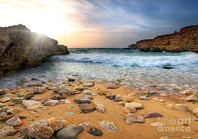 Beautiful Sea Stones Print by Boon Mee