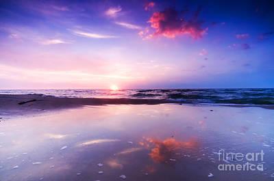 Dreams Photograph - Beautiful Sea Sunrise by Michal Bednarek