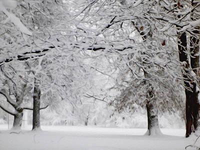 Albert Bierstadt - Beautiful Snowfall 4 by Tracy Winter