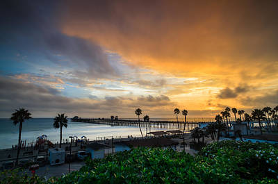California Seascape Photograph - Beautiful Southern California Sunset by Larry Marshall