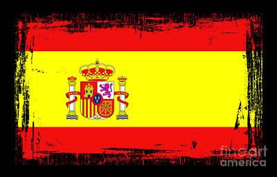 Barcelona Mixed Media - Beautiful Spain Flag by Pamela Johnson