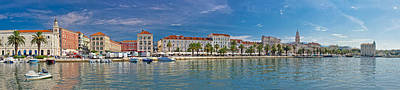 Photograph - Beautiful Split Panoramic Waterfront View by Brch Photography