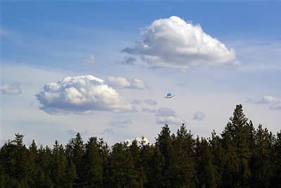 Photograph - Beautiful Spokane Skyline With A Ufo by Ben Upham III