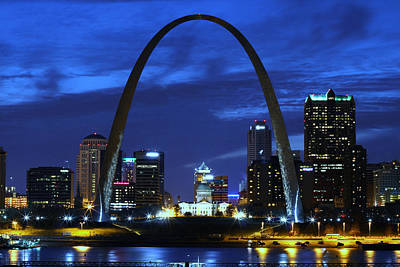 St. Louis Mixed Media - Beautiful St.louis Arch. by Jack Rainey