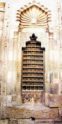 Beautiful Stone Window With Iron Screen  Cairo Egypt Print by Cimorene Photography
