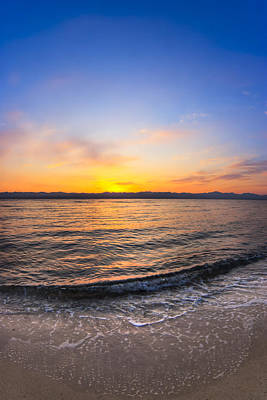 Photograph - Beautiful Sunrise On A Red Sea Beach by Mark E Tisdale