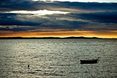 Photograph - Beautiful Sunset Above Adriatic Sea In Dalmatia by Brch Photography