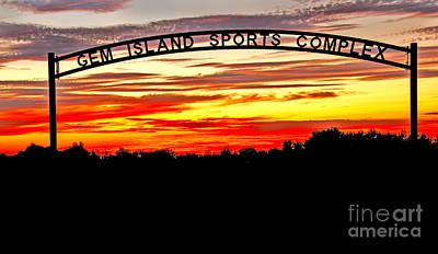 Photograph - Beautiful Sunset And Emmett Sport Comples by Robert Bales